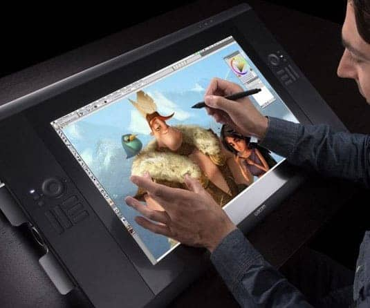 drawing tablet with display screen