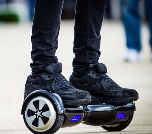 hoverboard with blue LED lights