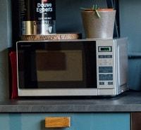 Silver frame microwave