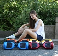 different colors hoverboards