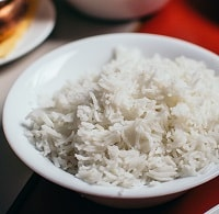 rice served in a plate