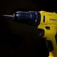 yellow cordless drill