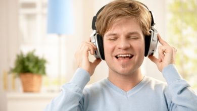Man with Noise canceling Headphones