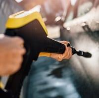 Yellow pressure washer