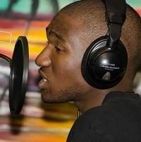 black over the ear studio headphones