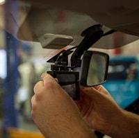 man Installing a dash cam