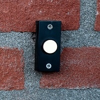 doorbell installed on a wall