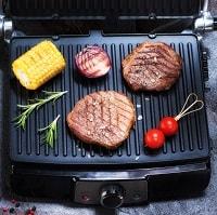 black indoor grill