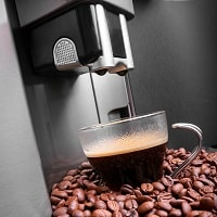 coffee beans with espresso machines