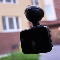 dashboard camera on a wind shield