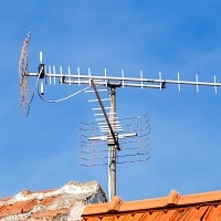 tv antenna in a rural area