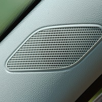 gray car speaker