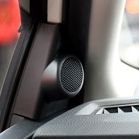 small car speaker in car